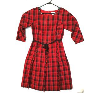 Liz Claiborne womens sz 8 dress red/black plaid